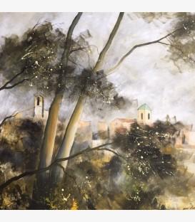 Lourmarin dans la brume