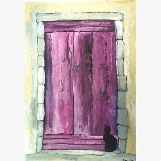 Black cat in Provence