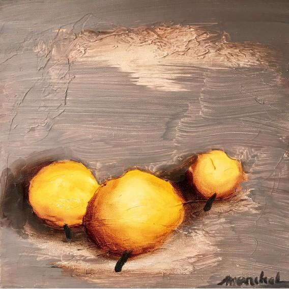Three yellow trees