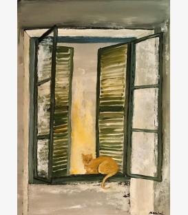 Chat aux persiennes